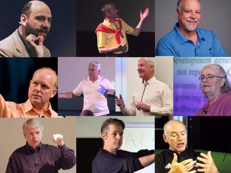 Craig Larman,Jeff Sutherland,Kent Beck,Mary Poppendieck,Jurgen Appelo,David Anderson,Martin Fowler